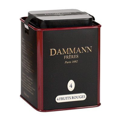 Dammann Frères Tee, 4 fruits rouges, 100g Dose