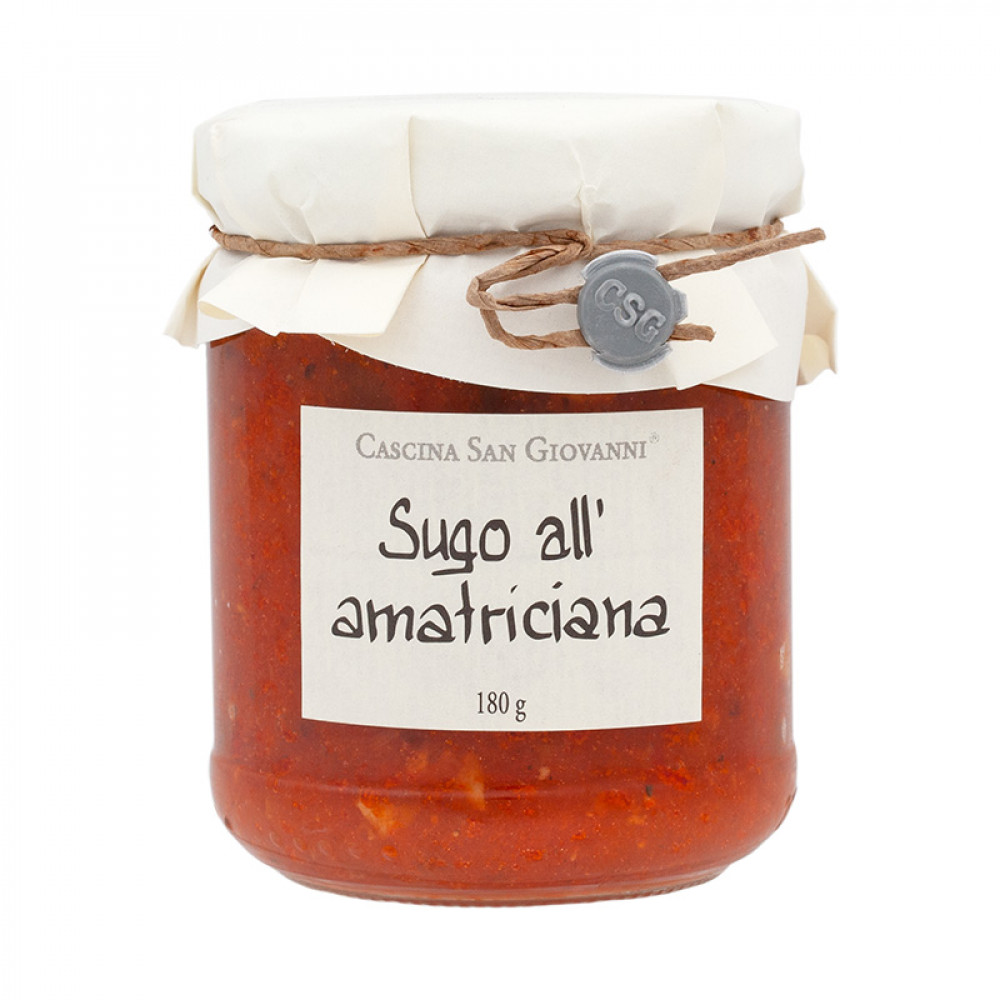 Cascina San Giovanni Sauce, Sugo all'amatriciana, 180g